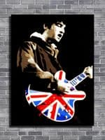 Oasis - Noel Gallagher sepia canvas print - self adhesive poster - photo print